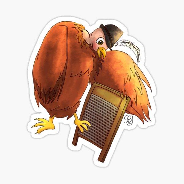 Polly Plays a  Washboard Sticker