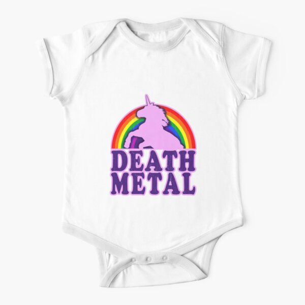 death Metal Short Sleeve Baby One-Piece