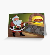 Christmas Pizza Greeting Card