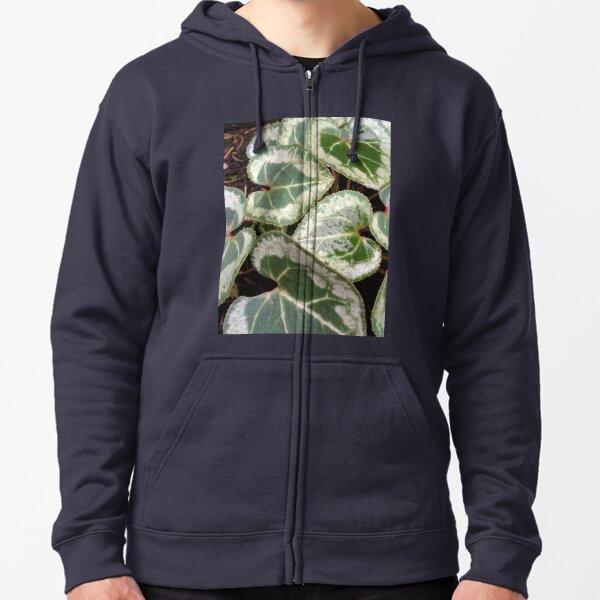 leaves Zipped Hoodie