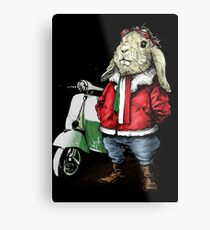 scooter and rabbit Metal Print