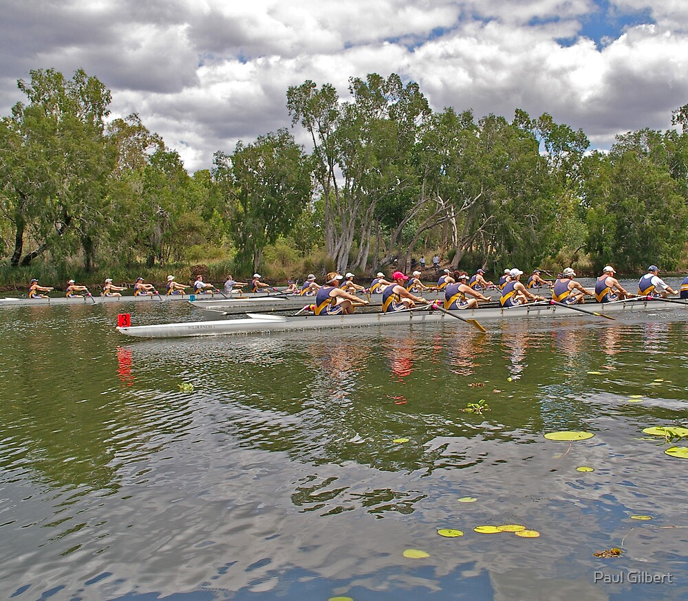 Off and rowing - Riverway Rowing Club by Paul Gilbert