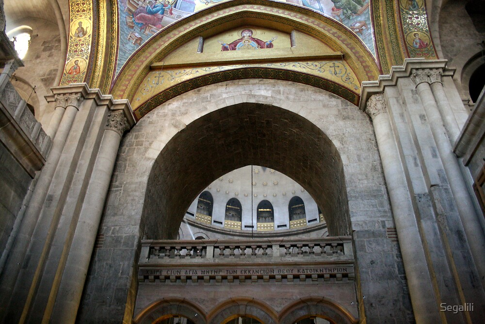 Inside the Church of the Holy Sepulchre by Segalili