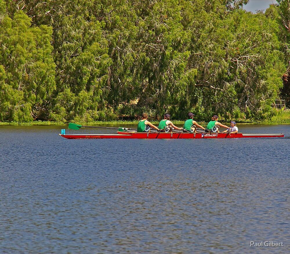 Teamwork - Riverway Rowing Club by Paul Gilbert