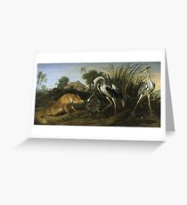 Frans Snyders - Fable Of The Fox And The Heron Greeting Card