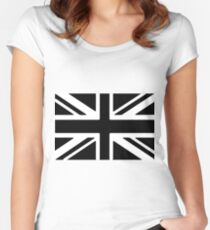 Union Jack Flag of the United Kingdom Women's Fitted Scoop T-Shirt