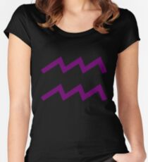Aquarius Sign Women's Fitted Scoop T-Shirt