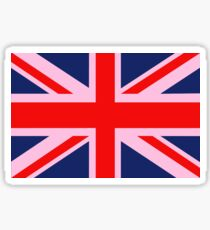 A Pink Union Jack of the United Kingdom Sticker