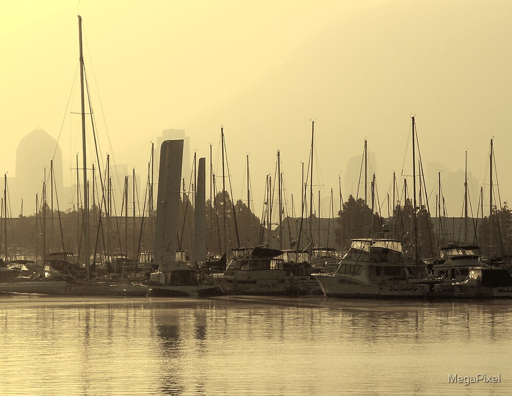 Morning at the Harbor by MegaPixel