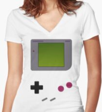 GAME BOY INSPIRED Women's Fitted V-Neck T-Shirt