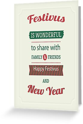 Festivus card 3 greeting cards by mookhustle redbubble festivus card 3 m4hsunfo