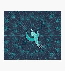 Peafowl On The Moon Photographic Print
