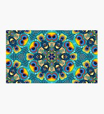 Abstract fractal feather peacock wallpaper.  Photographic Print