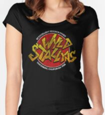 Bill & Ted - Wild Stallyns Band Patch Women's Fitted Scoop T-Shirt