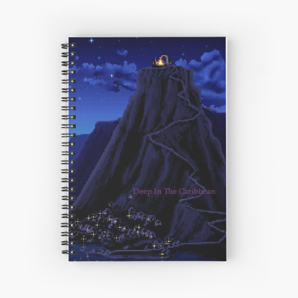 Monkey Island Deep in the Caribbean Spiral Notebook