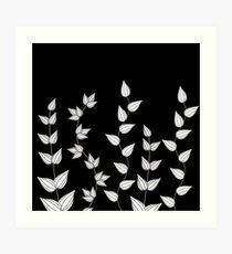Black and White Garden  Art Print