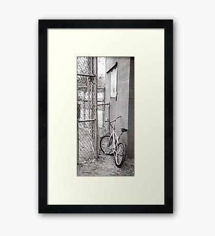 bycycle at ballpark Framed Print