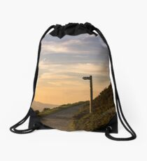Bend in the path Drawstring Bag