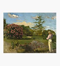 Frederic Bazille - The Little Gardner Photographic Print