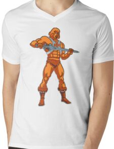 Pop Art He-Man Mens V-Neck T-Shirt