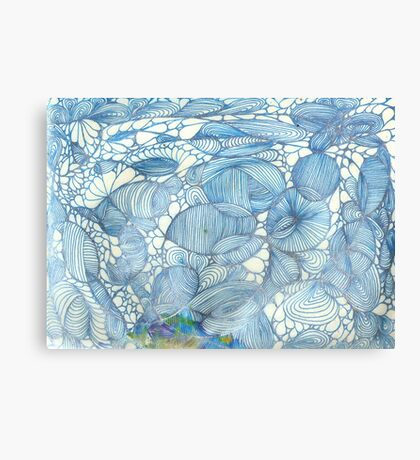 Blue Lines Do Over Canvas Print