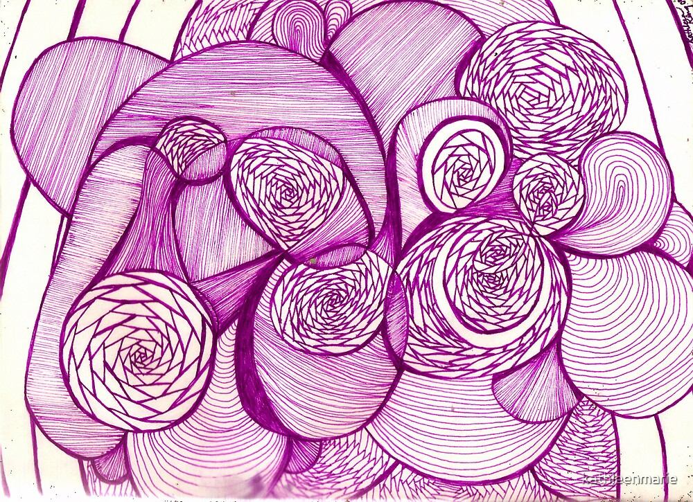 Purple Shapes and Lines by kathleenmarie