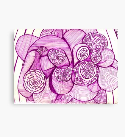 Purple Shapes and Lines Canvas Print