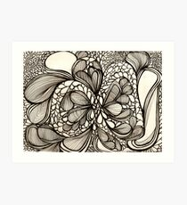 Blace Lines and Bubbles Art Print