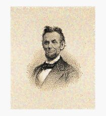 After Chuck Close - Portrait - Abraham Lincoln Photographic Print