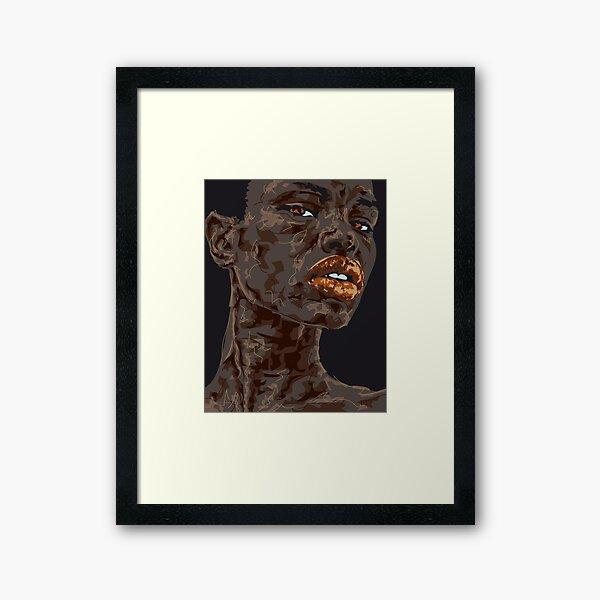 Lady Ghana Gerahmter Kunstdruck