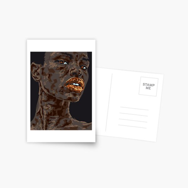Lady Ghana Postkarte