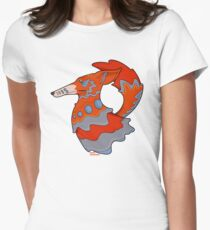 Sly Red Fox Womens Fitted T-Shirt