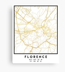 Lienzo FLORENCIA ITALIA CITY STREET MAP ARTE