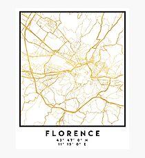 FLORENZ ITALIEN CITY STREET MAP ART Fotodruck