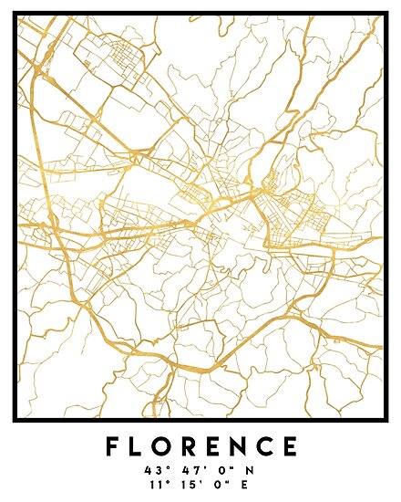Florence Italy City Street Map Art Photographic Prints By