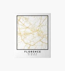 FLORENCE ITALY CITY STREET MAP ART Art Board