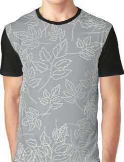 chaotic leaves on a gray background Graphic T-Shirt