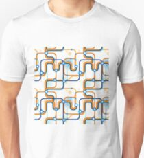 A subway map. Seamless pattern. Unisex T-Shirt
