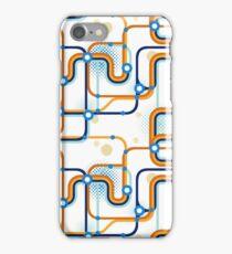 A subway map. Seamless pattern. iPhone Case/Skin