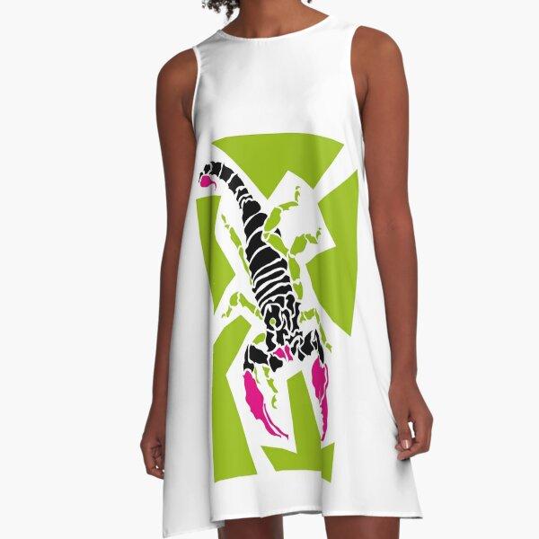 Scorpion A-Linien Kleid