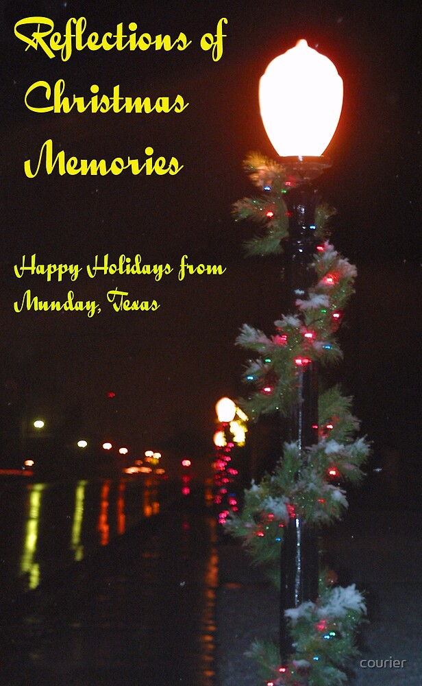 Christmas reflections by courier