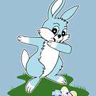 Dab Blue Easter Bunny by EthosWear
