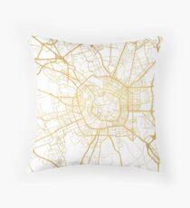 MILAN ITALY CITY STREET MAP ART Throw Pillow