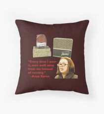 Tweed Perfume - Advert by Anna Karen from On The Buses Throw Pillow