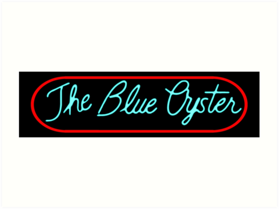 Police Academy Blue Oyster Bar Sign Art Prints By Unconart