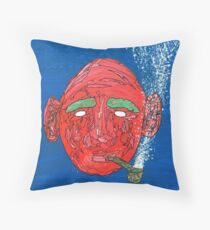 The kind man and his pipe Throw Pillow