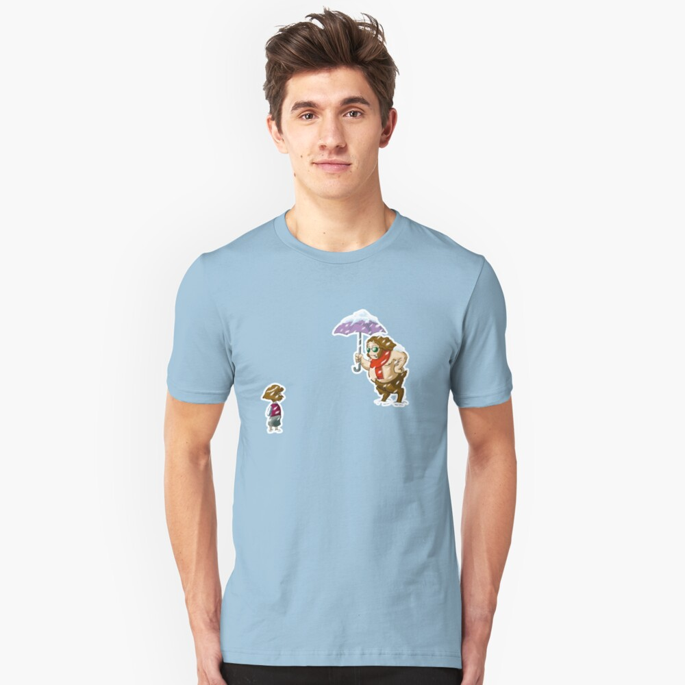 Meeting in the snow Unisex T-Shirt Front