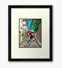 BICYCLES ARE FUN: Cartoon Racing Print Framed Print