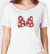 A Mouse's Bow Women's Relaxed Fit T-Shirt