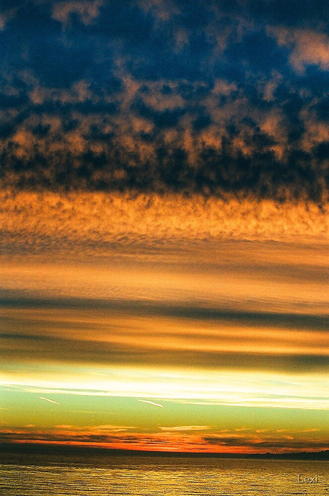 A Many Layered California Sunset by Lexi